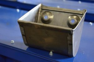 Welded elevator buckets